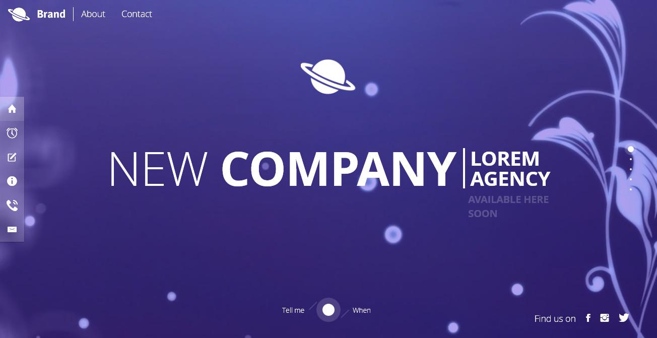 BIENTOT - Landing page Coming Soon responsive template